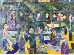 「アメリカ号という列車」山久瀬洋二・画