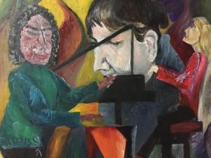 「バードに敬礼。音楽がすべての人のものであることと同じように..」山久瀬洋二・画