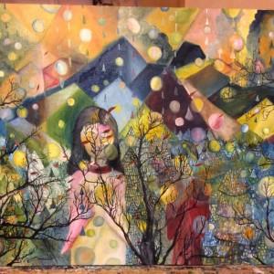 「祈り、そして鎮魂」山久瀬洋二・画