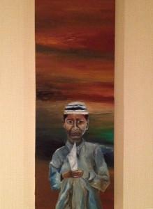 「霧に霞む、中東の悲劇の本質」山久瀬洋二・画