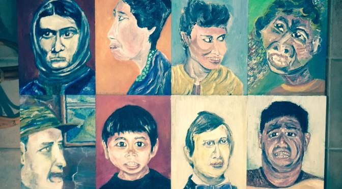 「人々の選択」山久瀬洋二・画