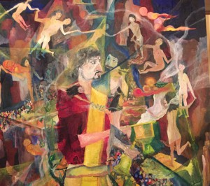 「世界市民の融和を祈って」山久瀬洋二・画