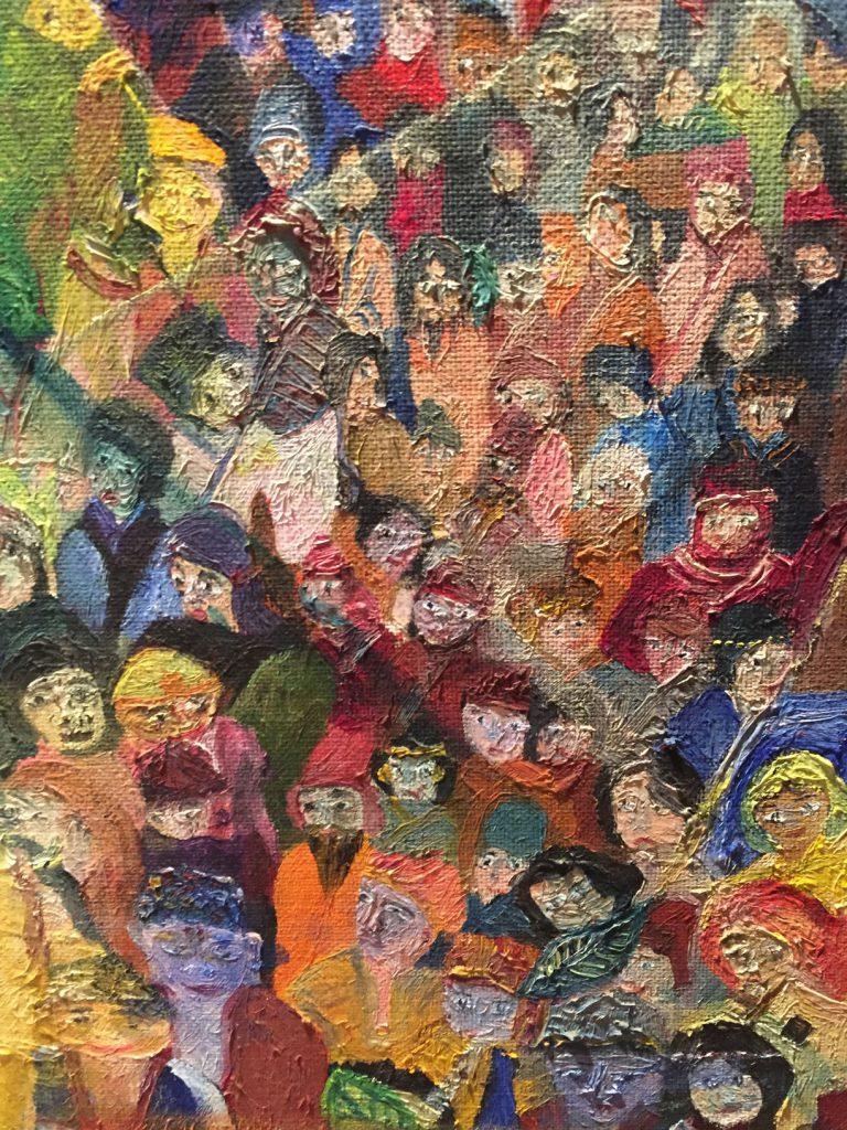 「世界の人が…」山久瀬洋二・画