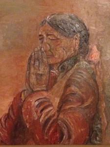 「犠牲者への祈りを込めて」山久瀬洋二・画