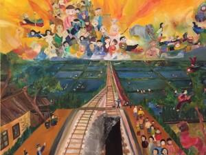 「多文化共生ーーー?」山久瀬洋二・画